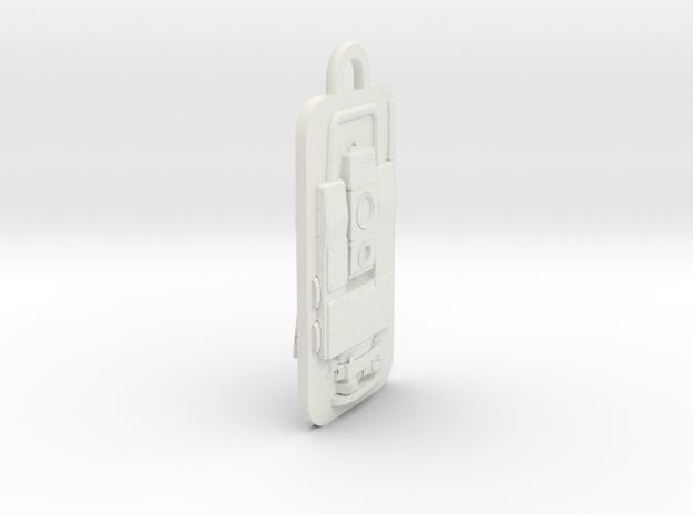 Geodimeter 600 Fob in White Natural Versatile Plastic