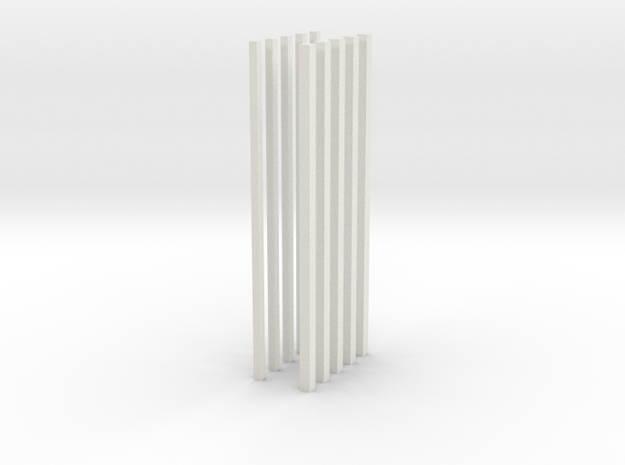 z bars in White Natural Versatile Plastic