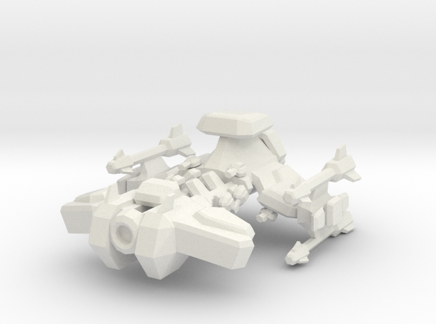 Star Battle Cruiser in White Natural Versatile Plastic
