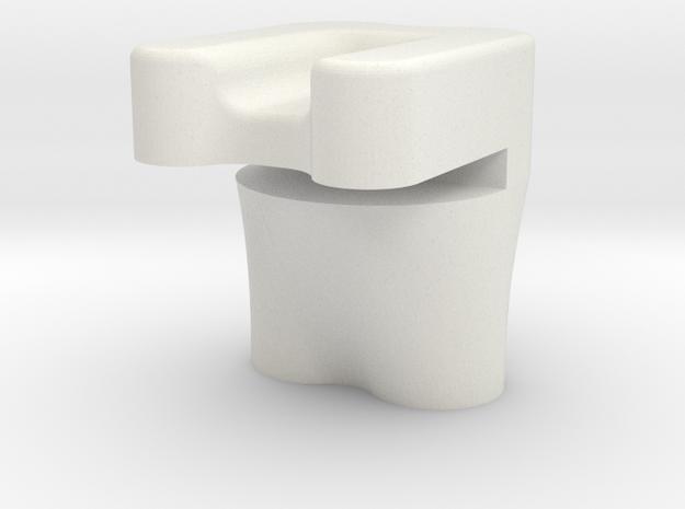 Gear Plate Bracket in White Natural Versatile Plastic