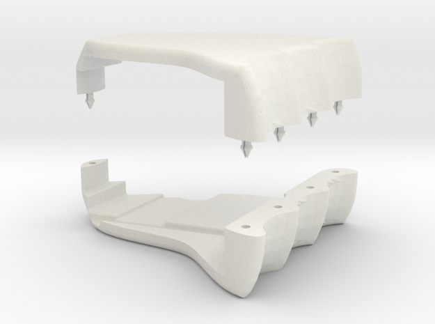Magwell Grip in White Natural Versatile Plastic
