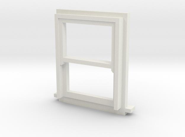 900 X 1200 Sash Window 4mm Scale in White Natural Versatile Plastic