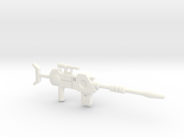 Perceptor Sniper Rifle 2 in White Processed Versatile Plastic