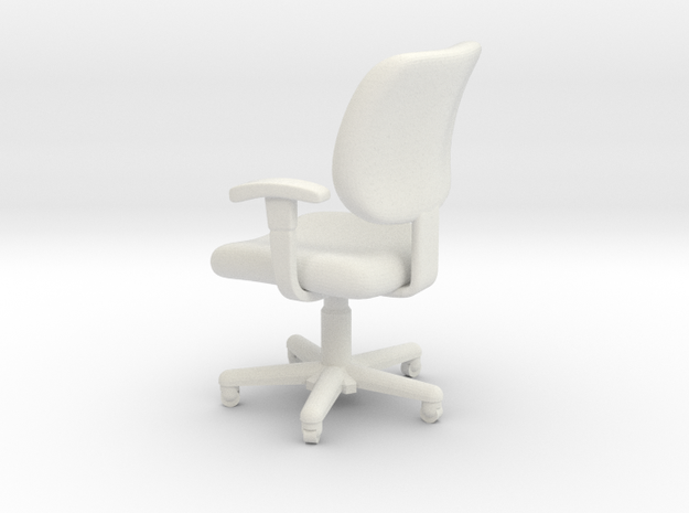 1:24 Office Chair 1 (Not Full Size) in White Natural Versatile Plastic
