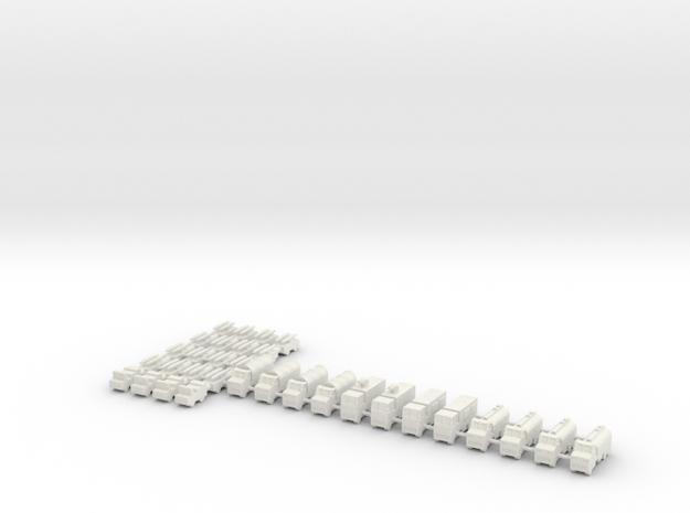 1/700 Airbase Vehicles in White Natural Versatile Plastic