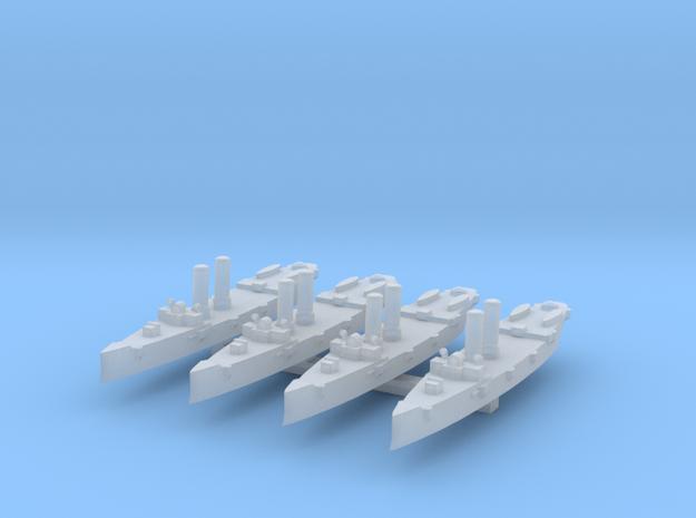 USS Montgomery (1890) 1:4800 x4 3d printed