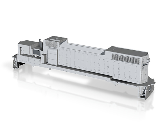 GP38 2 Locomotive Body Only S Scale 3d printed