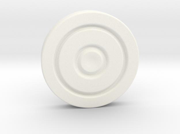 Hood Clasp in White Processed Versatile Plastic