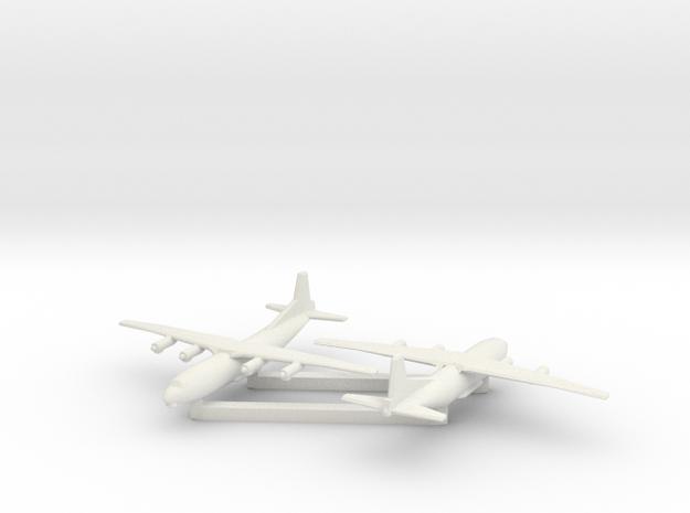 1/600 Antonov AN 12 Shaanxi Y8 x2 in White Natural Versatile Plastic