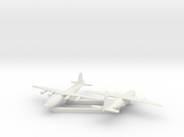 1/700 Antonov AN 12 Shaanxi Y8 x2 in White Natural Versatile Plastic