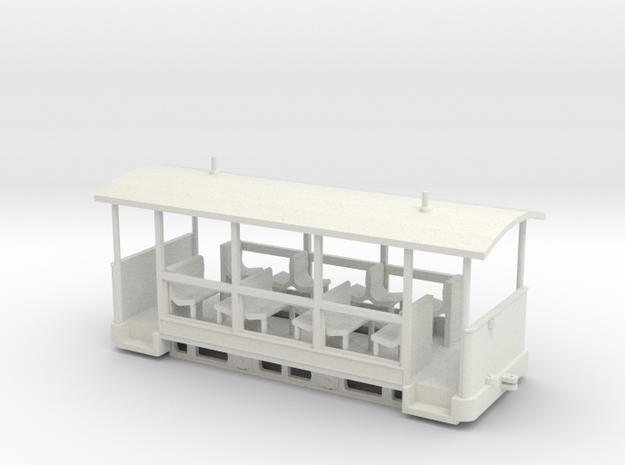 Straßenbahn-Sommerwagen (ex Barmer Bergbahn) in White Natural Versatile Plastic