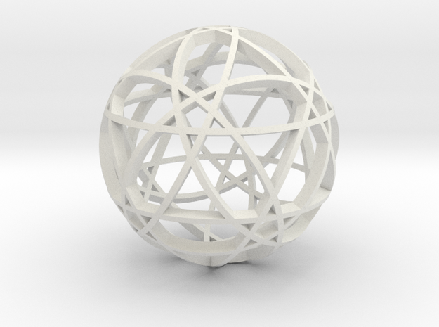 Pentagram Dodecahedron 2 (narrow) in White Natural Versatile Plastic