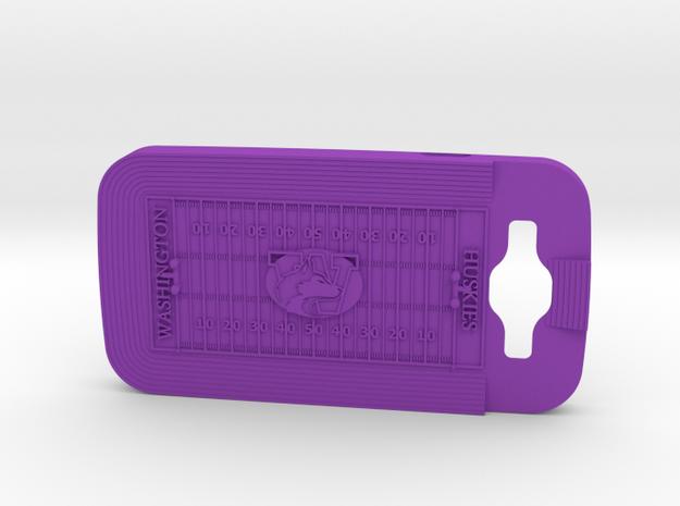 Galaxy S3 Football Huskies in Purple Processed Versatile Plastic