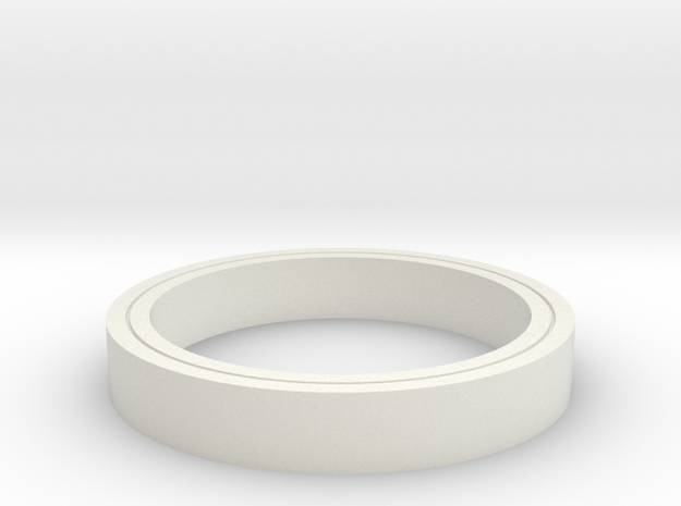 Clear Ring in White Natural Versatile Plastic