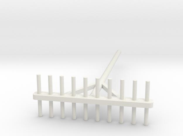 Rake 1/32 in White Natural Versatile Plastic