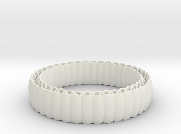 Armadillo Bracelet in White Natural Versatile Plastic