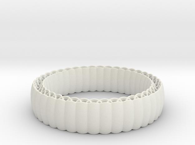 Armadillo Bracelet in White Natural Versatile Plastic