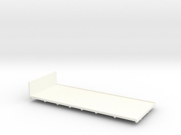 1:43 AEC 6Wheel Flatbed Body    in White Processed Versatile Plastic