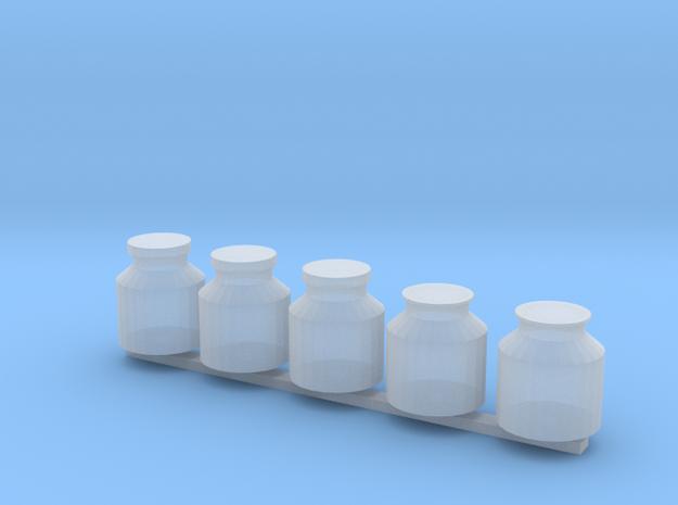 5xMilchkanne in Smooth Fine Detail Plastic