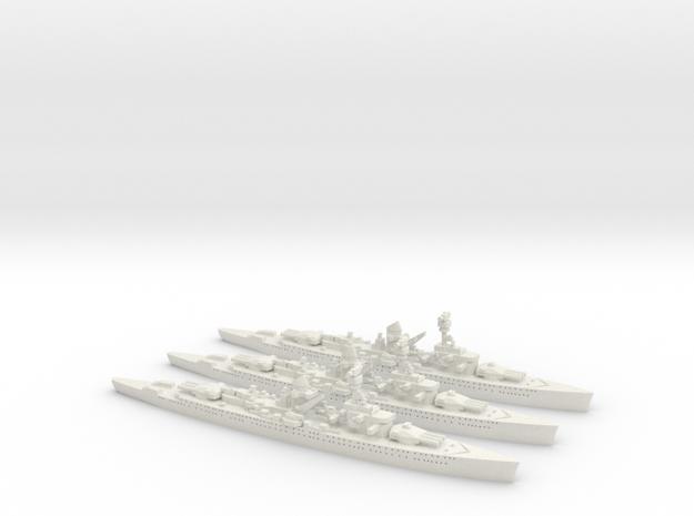 Lutzow (Deutschland class) 1/1800 x3 3d printed