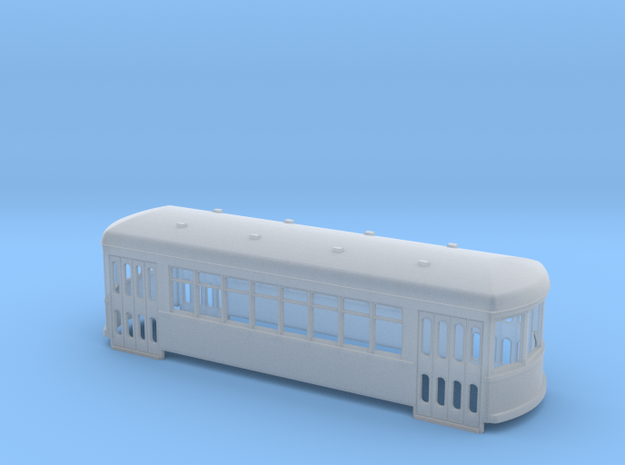 N gauge short trolley City car 8 window in Frosted Ultra Detail