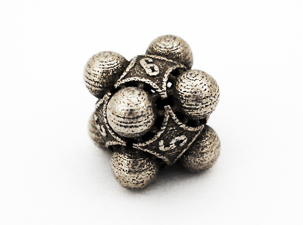 Nucleus D6 in Polished Bronzed Silver Steel
