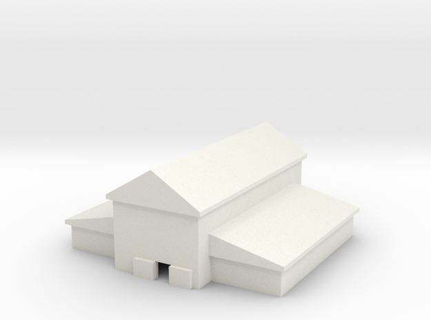 1/700 Large Barn in White Natural Versatile Plastic