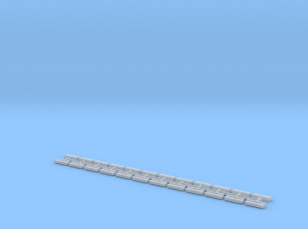 1/700 Concrete Road Barriers (x24) in Smooth Fine Detail Plastic