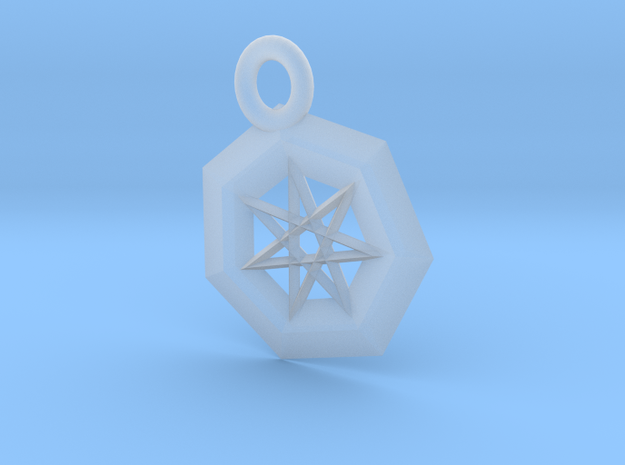 Frosted Ultra Detail Star Pendant 3d printed