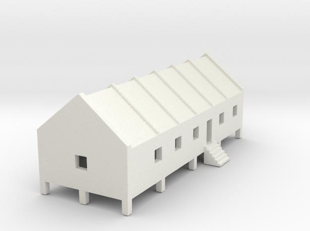 1/700 Prison Camp Building 1 in White Natural Versatile Plastic