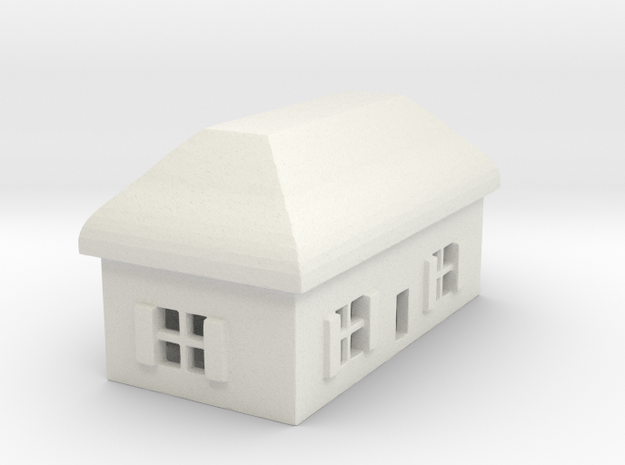 1/700 Villiage House 5 in White Natural Versatile Plastic