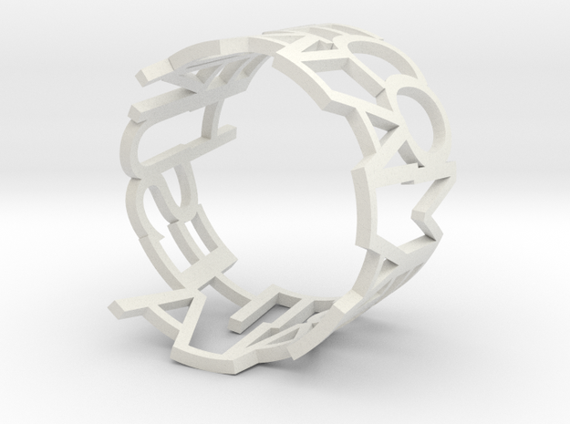 Message Napkin Ring 3d printed