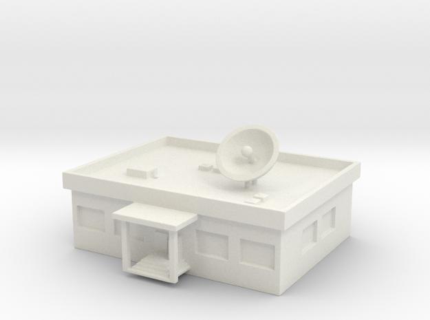 1/700 TV Station in White Natural Versatile Plastic