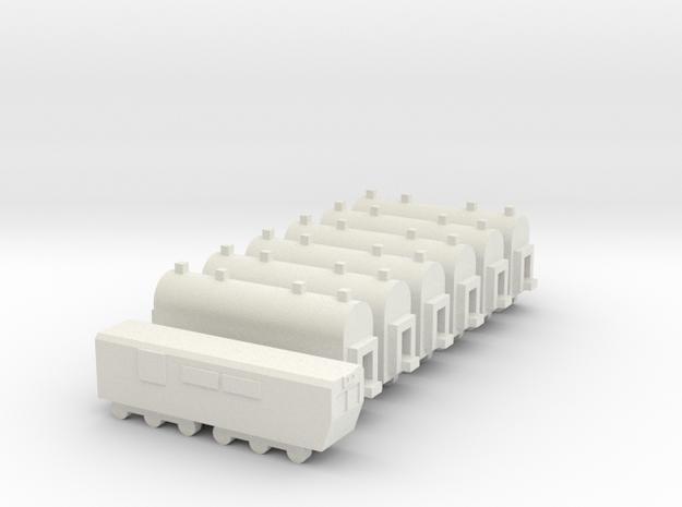 1/700 Passenger Train Set in White Natural Versatile Plastic