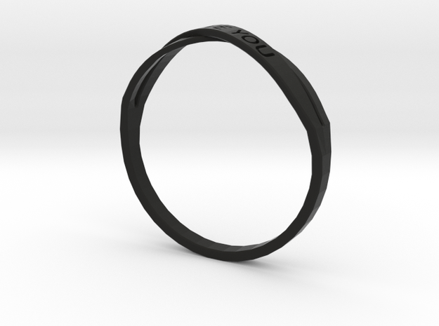 I Love You ring US11 size 3d printed