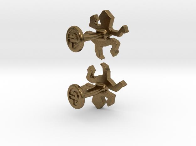 Escher Reptile Cufflinks 3d printed