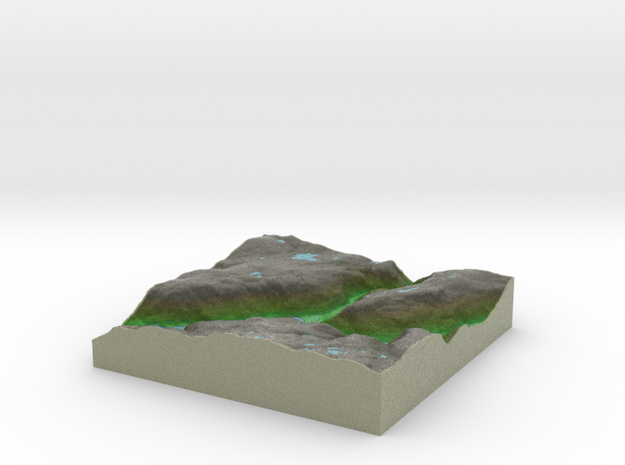 Terrafab generated model Thu Apr 17 2014 20:46:23  in Full Color Sandstone