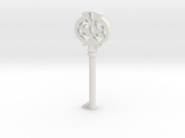 Pendant- Mombi's Ruby Key in White Natural Versatile Plastic