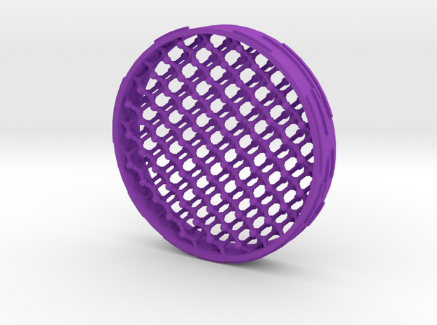 Diamond-structure coaster 3d printed