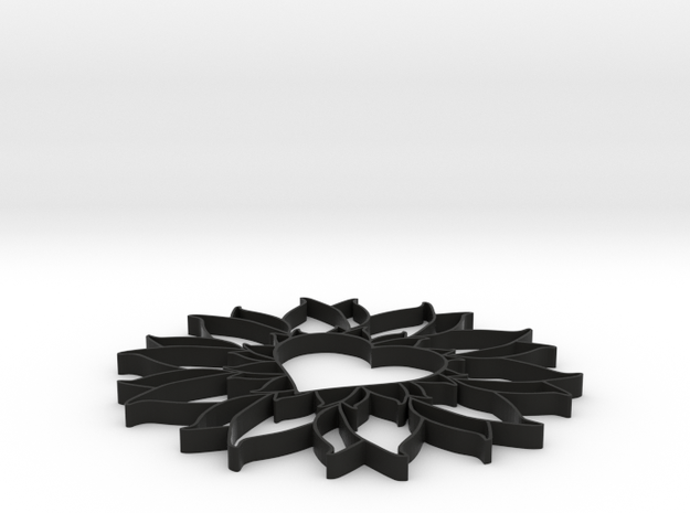 bloemhartknoet 3d printed