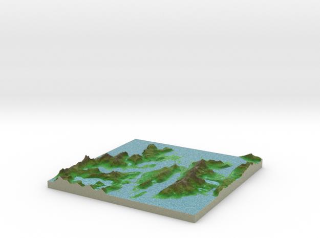 Terrafab generated model Fri Apr 18 2014 18:18:49 3d printed