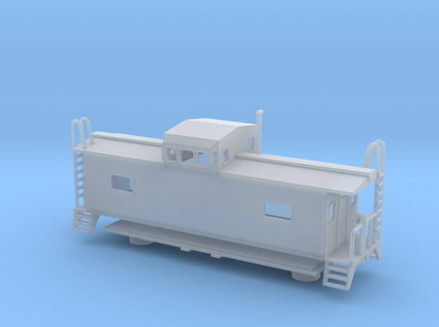 Monon Caboose - HOscale in Smooth Fine Detail Plastic