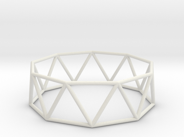 nonagonal antiprism 70mm in White Natural Versatile Plastic