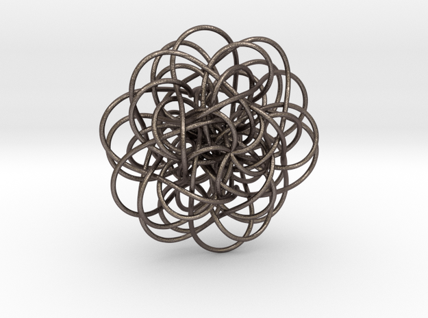 Complex Knot in Polished Bronzed Silver Steel