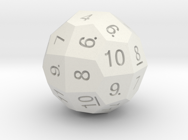D36 Standard Numbers in White Natural Versatile Plastic