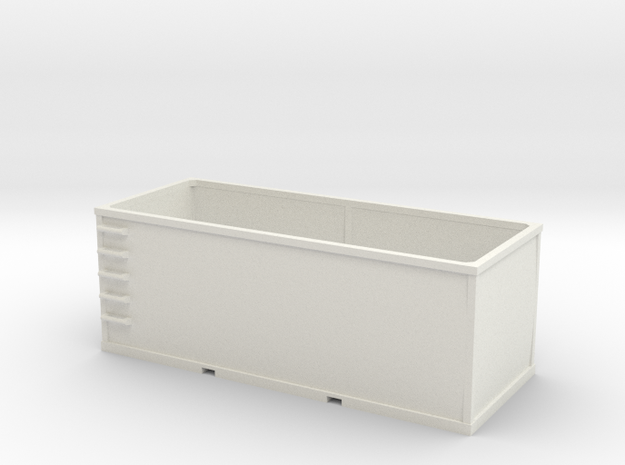 HO 1/87 Container 01 Tie or Dirt (WSF material) in White Natural Versatile Plastic