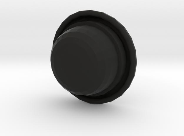 Bowler (rounder top) in Black Natural Versatile Plastic