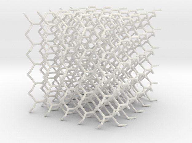 (10,3) Lattice 5x5x5 in White Natural Versatile Plastic