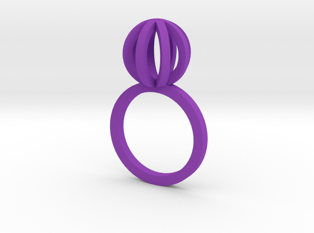 Sphere outlines ring 3d printed