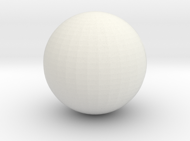 Ball 7 in White Natural Versatile Plastic